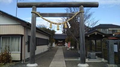 茨城県羽黒神社の鳥居