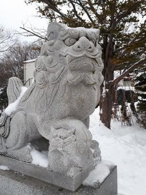 上手稲神社(北海道宮の沢駅) - 狛犬の写真