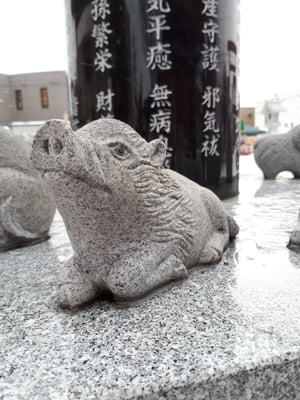 新川皇大神社の狛犬
