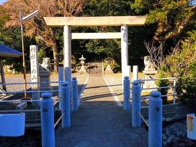 愛知県白山社(小鈴谷白山神社)の鳥居