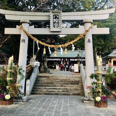 愛知県上地八幡宮の鳥居