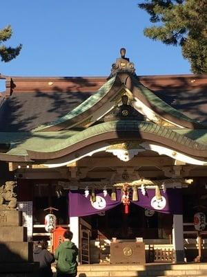 東京都天沼八幡神社の本殿