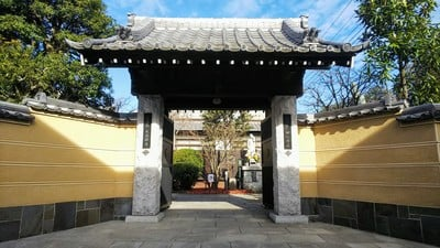 東京都大法寺の山門
