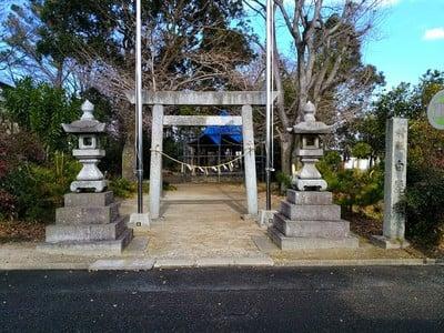 愛知県白髭社の鳥居