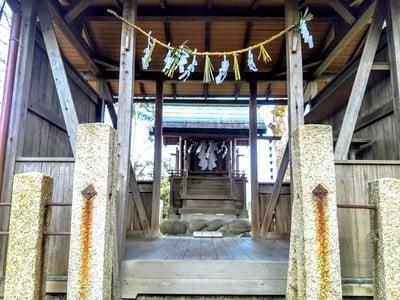 愛知県白髭社の本殿