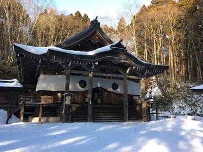 長野県戸隠神社中社の本殿