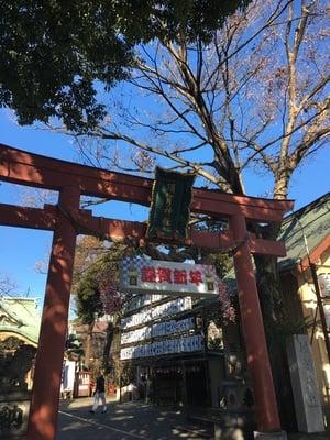 東京都須賀神社の鳥居