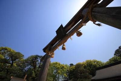 山口県松陰神社の鳥居