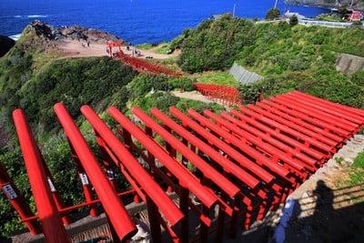 元乃隅神社(山口県長門古市駅) - 鳥居の写真