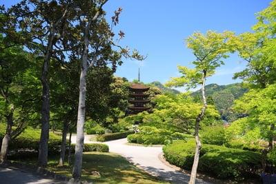 瑠璃光寺(山口県上山口駅) - 庭園の写真