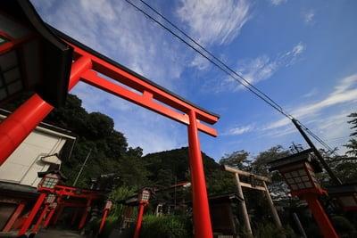 太鼓谷稲成神社(島根県津和野駅) - 鳥居の写真