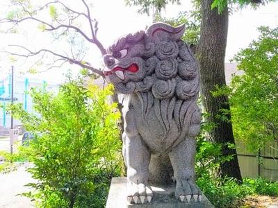 北野天神社(岐阜県鵜沼駅) - 狛犬の写真