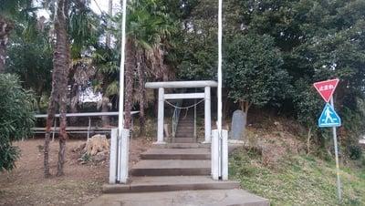 一ノ矢八坂神社(茨城県涸沼駅) - 鳥居の写真