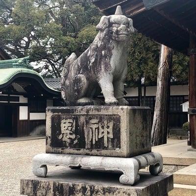 知立神社の狛犬