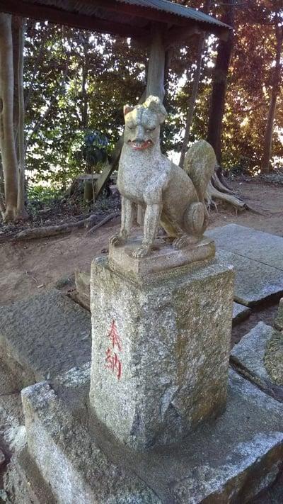 二ツ森稲荷神社の狛犬