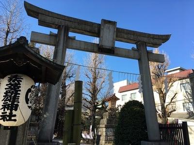 東京都素盞雄神社の鳥居