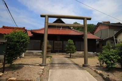 島根県物部神社の鳥居