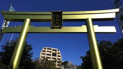 金神社(岐阜県名鉄岐阜駅) - 鳥居の写真