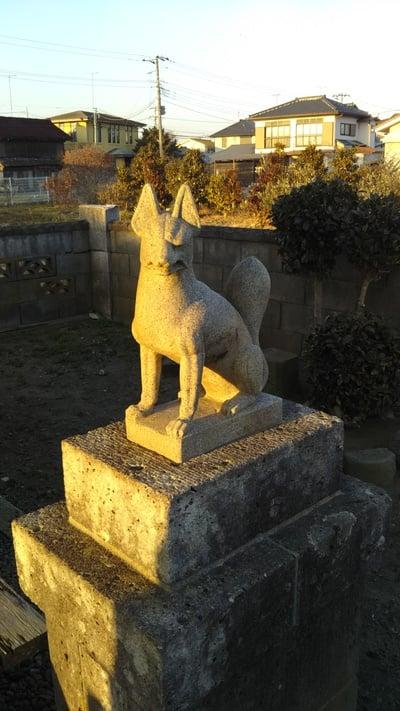 八百穂稲荷神社の狛犬