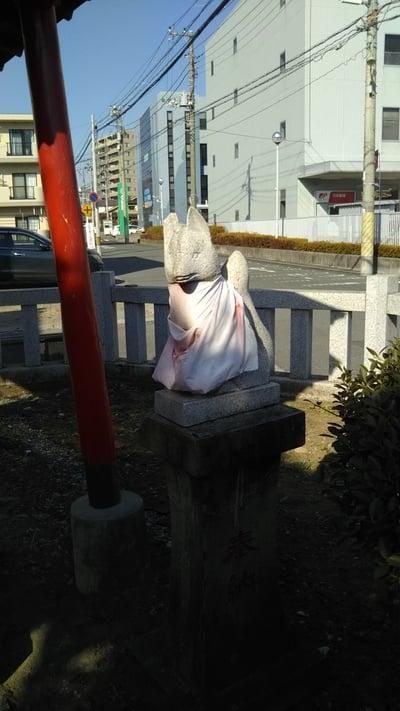 土佐稲荷神社の狛犬