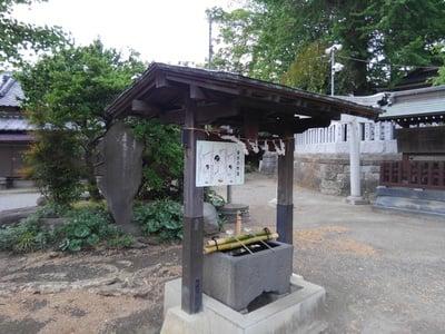 大曽根八幡神社の手水