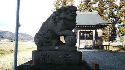 栃木県親孝子神社の狛犬