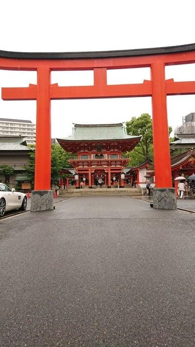 兵庫県生田神社の鳥居