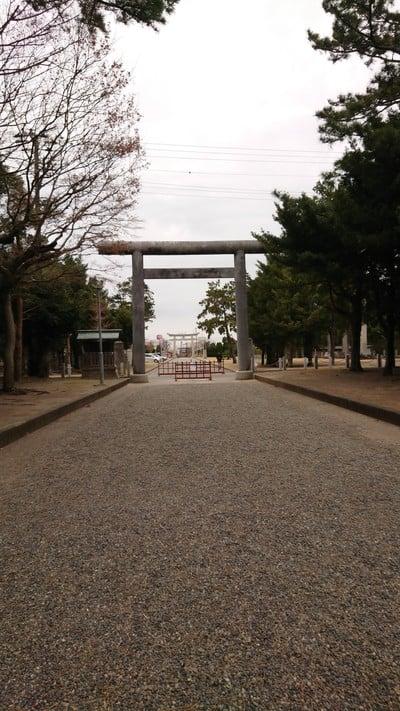 千葉県鶴谷八幡宮の鳥居