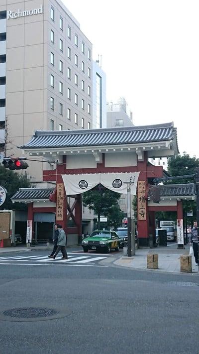 東京都増上寺の山門