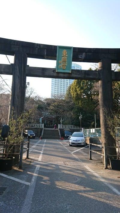 東京都芝東照宮の鳥居