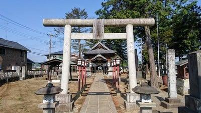 埼玉県鬼鎮神社の鳥居