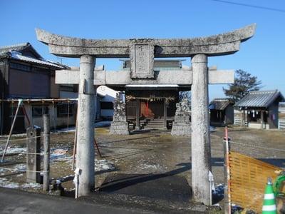 福岡県下田神社の鳥居