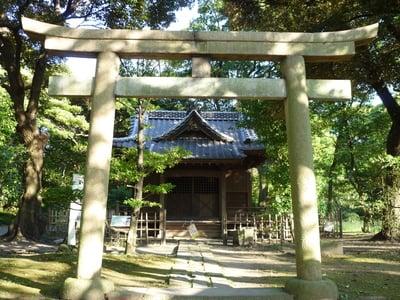 東京都旧稲生神社の鳥居