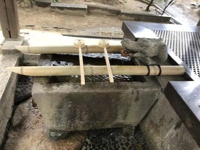 大依羅神社(大阪府あびこ駅) - 手水舎の写真