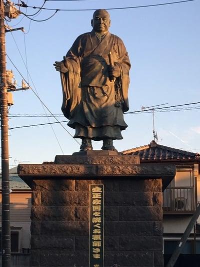法華経寺の像