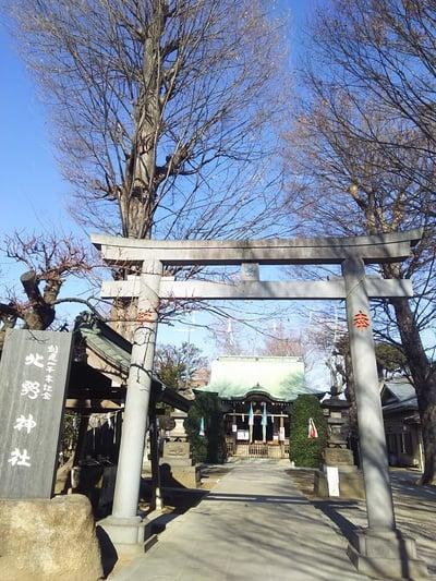 東京都北野神社の鳥居