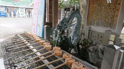 真清田神社の手水