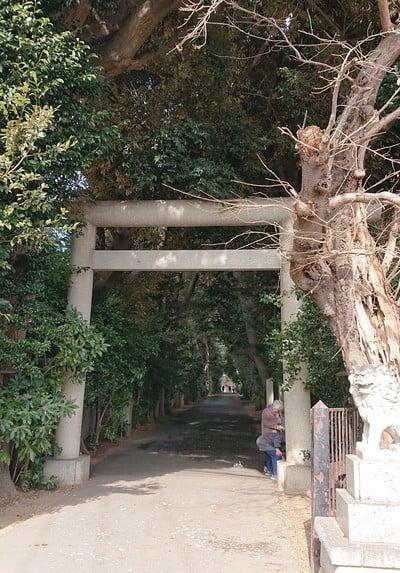 埼玉県久伊豆神社の鳥居