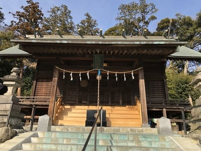 東京都千ケ瀬神社の本殿