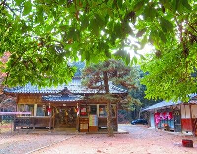 岡山県獅子山八幡宮の本殿