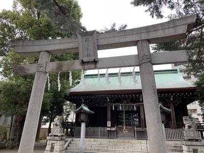 神奈川県松原神社の鳥居