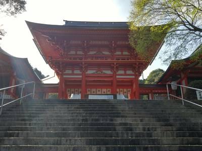 滋賀県近江神宮の山門
