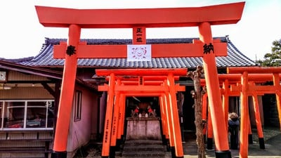 愛知県信貴山 宝生寺の鳥居