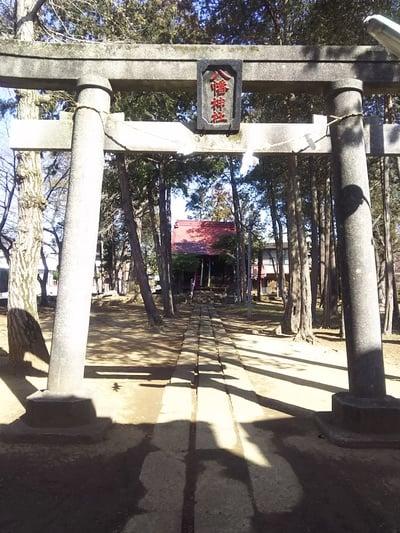 埼玉県槐戸八幡神社の鳥居