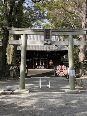 静岡県八幡宮の鳥居