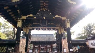 京都府豊国神社の山門