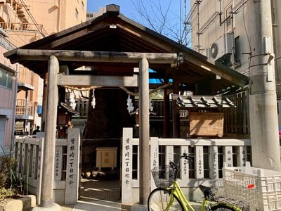 神明社旧跡の本殿