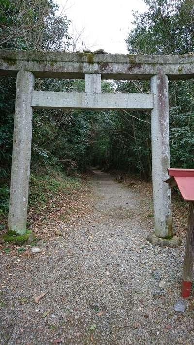 岡山県中山神社の鳥居