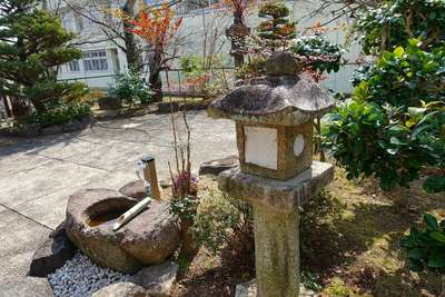 放光寺の庭園