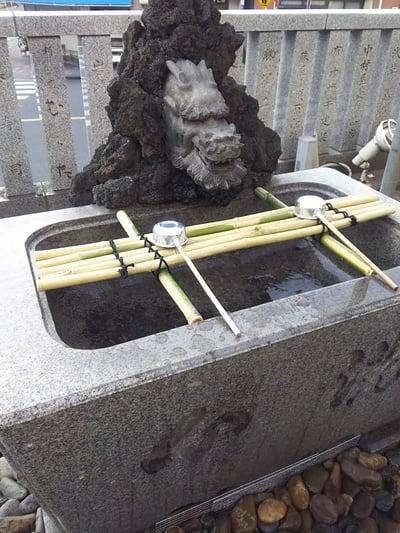 浅草富士浅間神社の手水